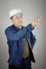 Jim Damron in Hard Hat